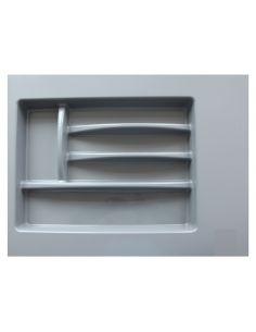 Лоток для столовых приборов серый 300-350