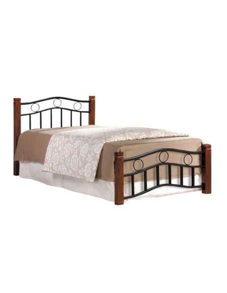 Кровать Берта 0,9х2,0 каштан металл