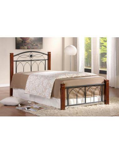Кровать Миранда 0,9х2,0 каштан металл