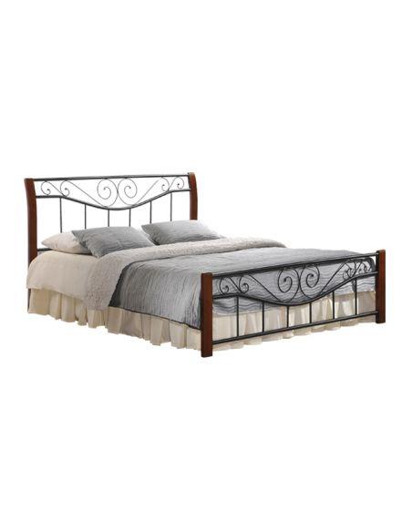 Кровать Ленора 1,4х2,0 каштан металл