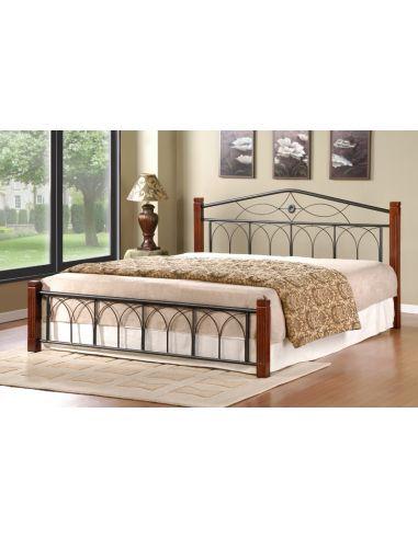 Кровать Миранда 1,6х2,0 каштан металл