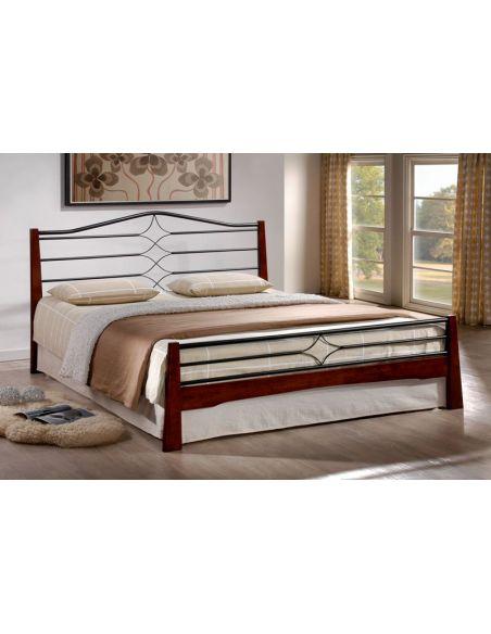 Кровать Флоренс 1,6х2,0 каштан металл