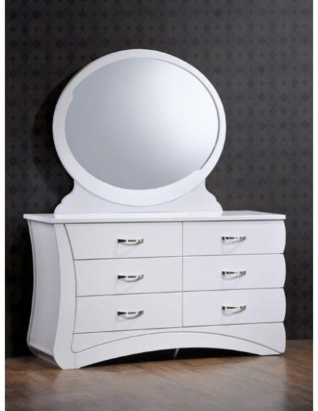 Будуарный стол Эвита белый глянец