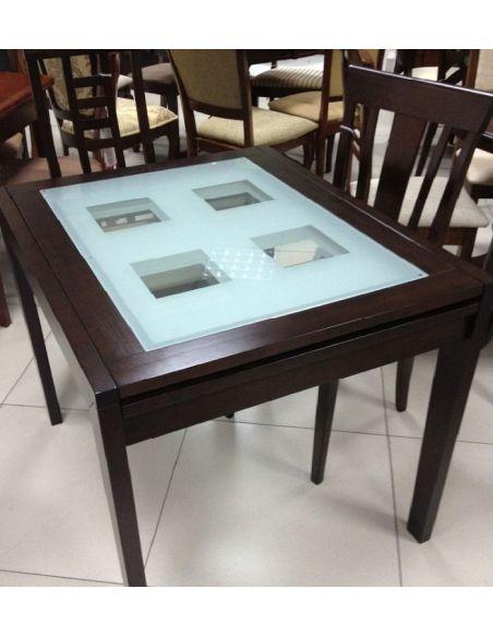 Стол Сандра 0,9 венге белое стекло