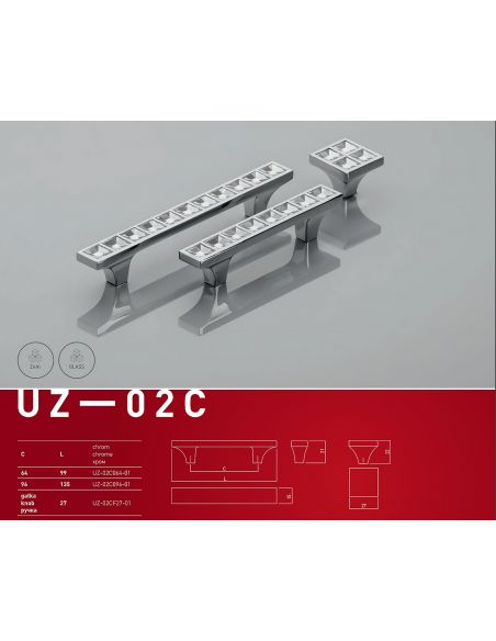 Ручка GTV UZ-02C/96