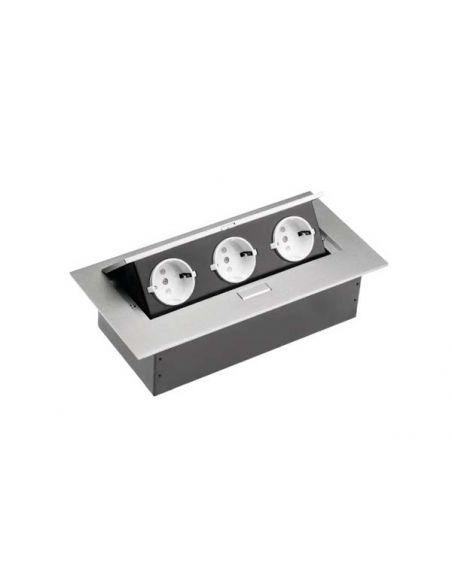 Разветвитель офисный прямоугольный серебро