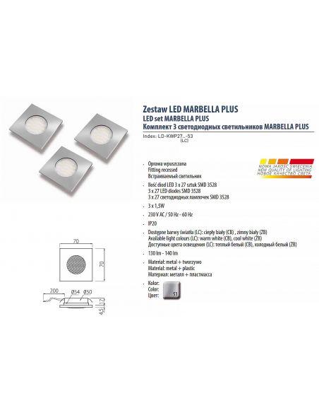 Светильник LED MARBELLA PLUS холодный белый 220V
