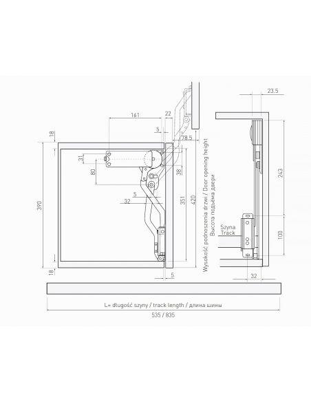 Подъемник вертикальный фасада