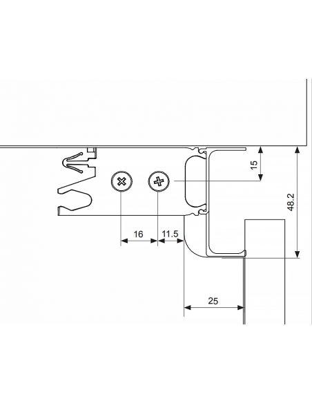 Профиль GOLA Volpato L-образный L-4200мм Алюминий