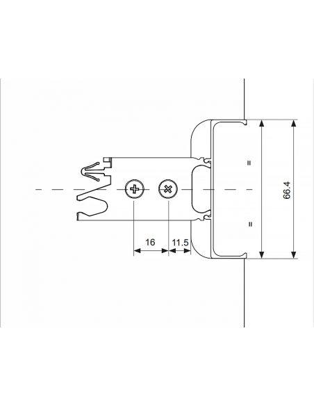Профиль GOLA Volpato C-образный L-4200мм Белый