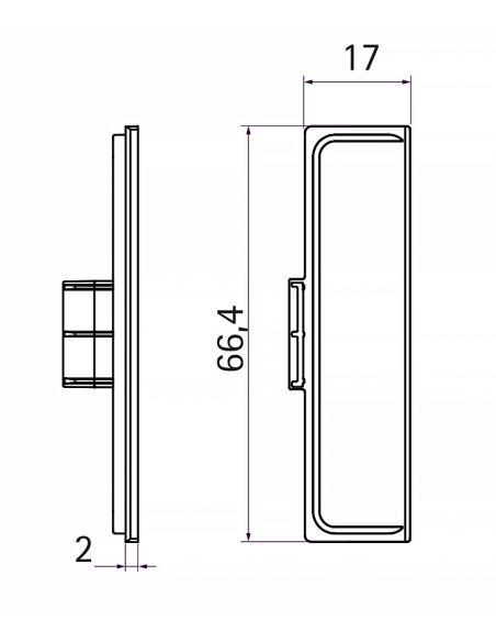 Комплект заглушек закрытых к профилю GOLA C-образный Белый
