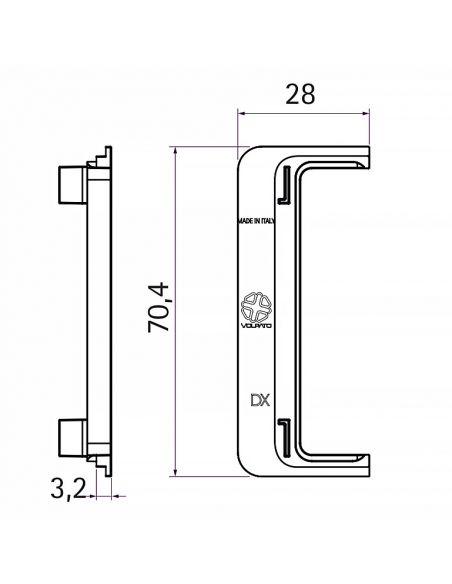 Комплект заглушек открытых к профилю GOLA C-образный Серый