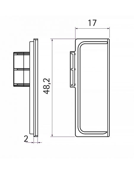 Комплект заглушек закрытых к профилю GOLA L-образный Серый