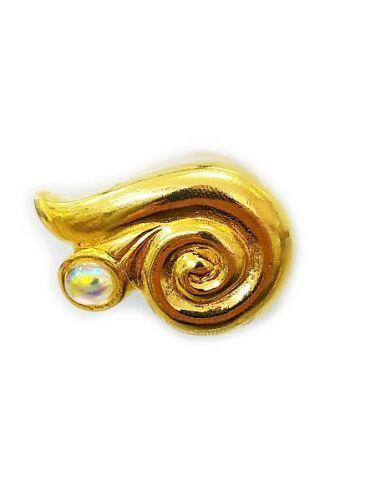 Ручка Улитка с жемчугом золото