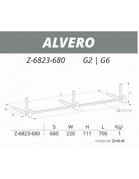 Вешалка ALVERO Z-6823-680 мат хром