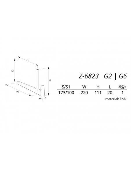Вешалка ALVERO Z-6823 матовый хром