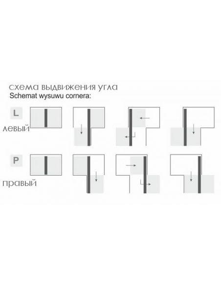 Рациональный угол MAXIMA EVO II Corner Comfort 1000 хром/белый