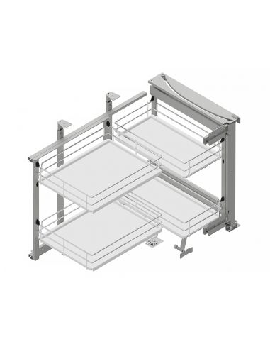 Рациональный угол MAXIMA EVO II Corner Front 900 хром/белый