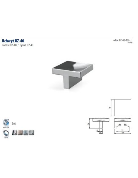 Ручка GTV UZ-40 (06)