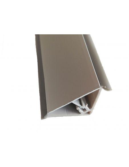 Плинтус треугольный алюминий 4м