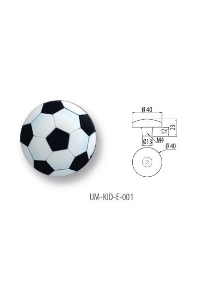 Ручка GTV резиновая UM-KID-E-001 мяч