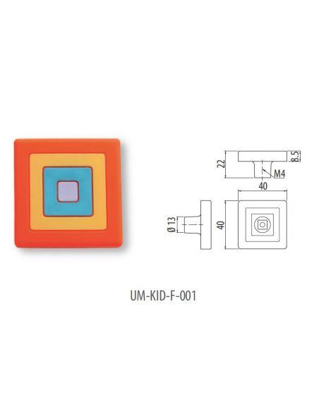 Ручка GTV резиновая UM-KID-F-001 квадрат