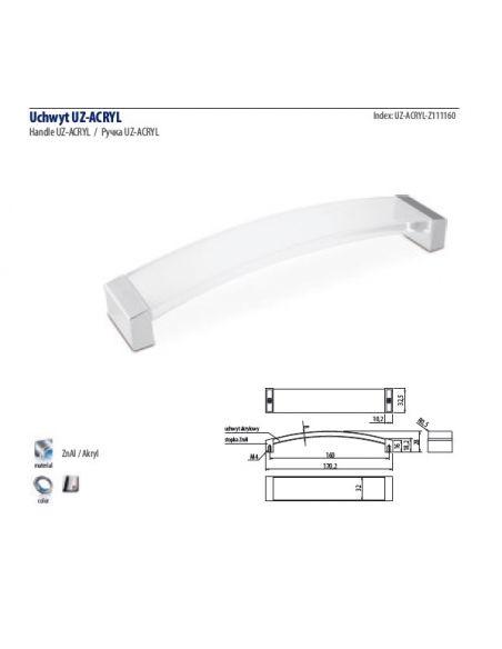 Ручка GTV UZ-ACRIL /160