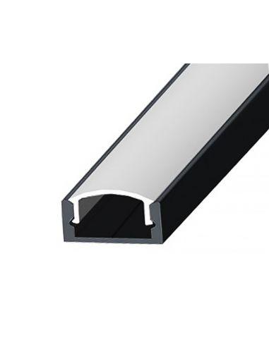 Профиль накладной черный №2 для LED...