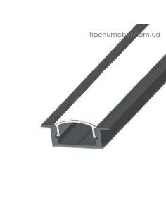 профиль для ленты врезной черный