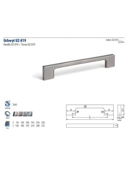 Ручка GTV UZ-819 хром
