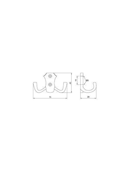 Крючок GTV WP-8906
