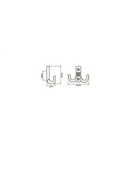 Крючок  Z-341-G2 (FF15/342) хром