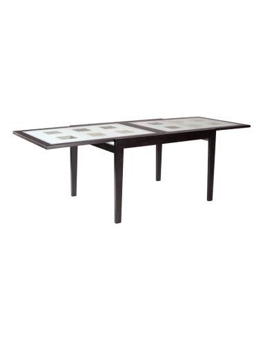 Стол Сандра 1,2 венге бел.стекло