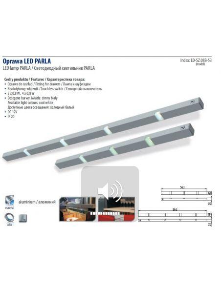 Светильник LED для выдвижных ящиков PARLA 863мм