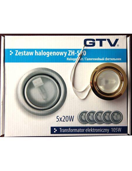 Подсветка галоген. с выкл. и трансформ. (5 ламп.) зол.