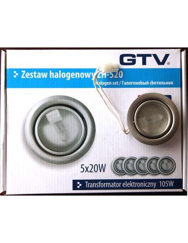 Подсветка галоген. с выкл. и трансформ. (5 ламп.) сатин