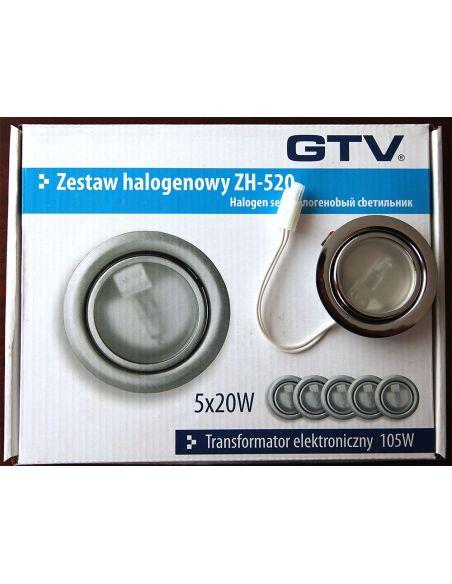 Подсветка галоген. с выкл. и трансформ. (5 ламп.) хром
