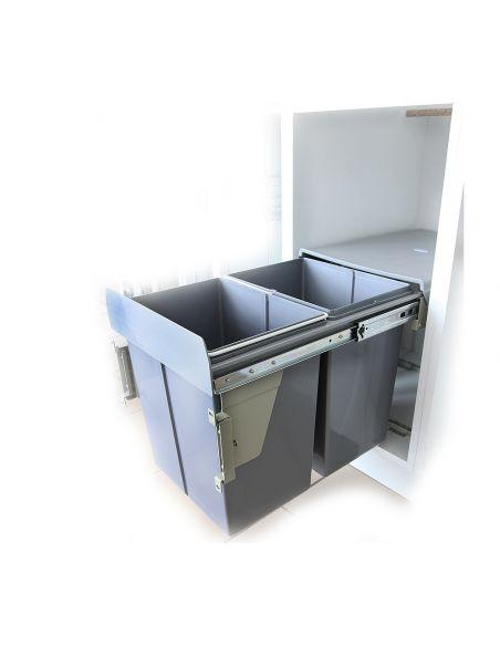 Ведро-сегрегатор для шкафа 400мм с креплен.фасада (PB-45М002х20)